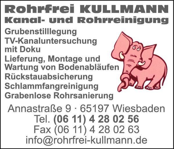 Rohrfrei Kullmann - Rohrreinigung und Kanalreinigung