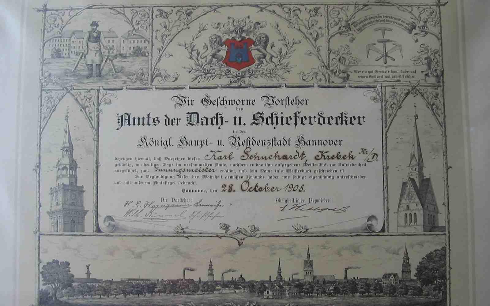 Dachdeckermeister Bernd Schuchardt
