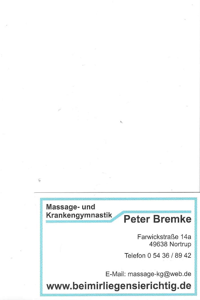 Bild zu Massage und Krankengymnstik Praxis Bremke in Nortrup