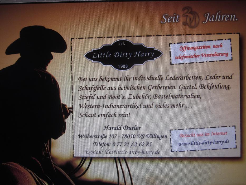 Bild zu Little-Dirty-Harry Western,- und Indianer Geschäft in Villingen Schwenningen