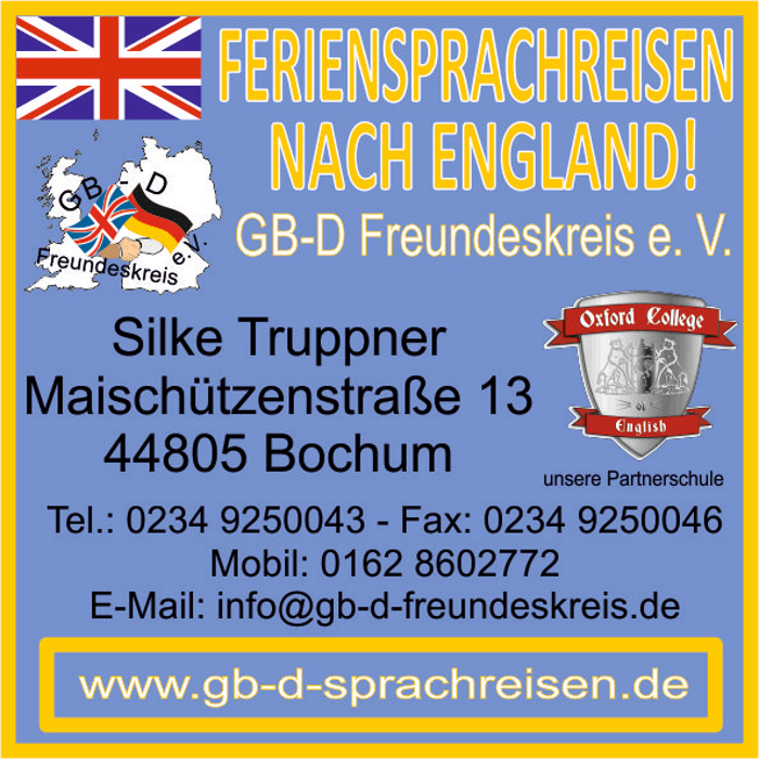 Bild zu GB-D Freundeskreis e. V. - Sprachreisen nach England in Bochum