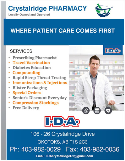 IDA Crystalridge Pharmacy - Okotoks, AB T1S 2C3 - (403)982-0029 | ShowMeLocal.com