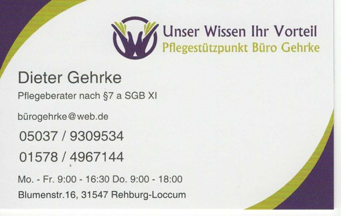 Bild zu Pflegestützpunkt Büro Gehrke in Rehburg Loccum