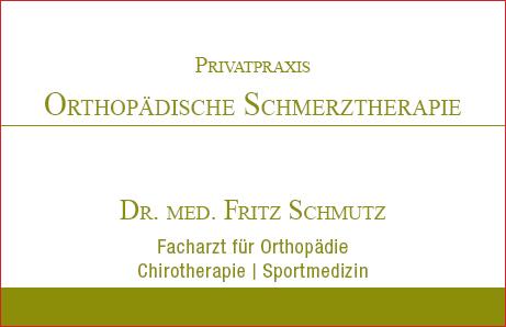 Dr.med. Fritz Schmutz Privatpraxis Orthopädische Schmerztherapie Baden-Baden