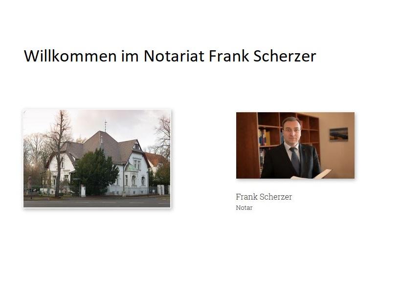 Notar Frank Scherzer