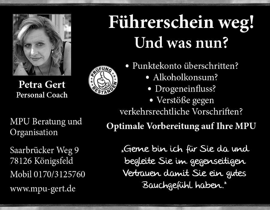 Bild zu Petra Gert MPU Beratung und Organisation in Königsfeld im Schwarzwald