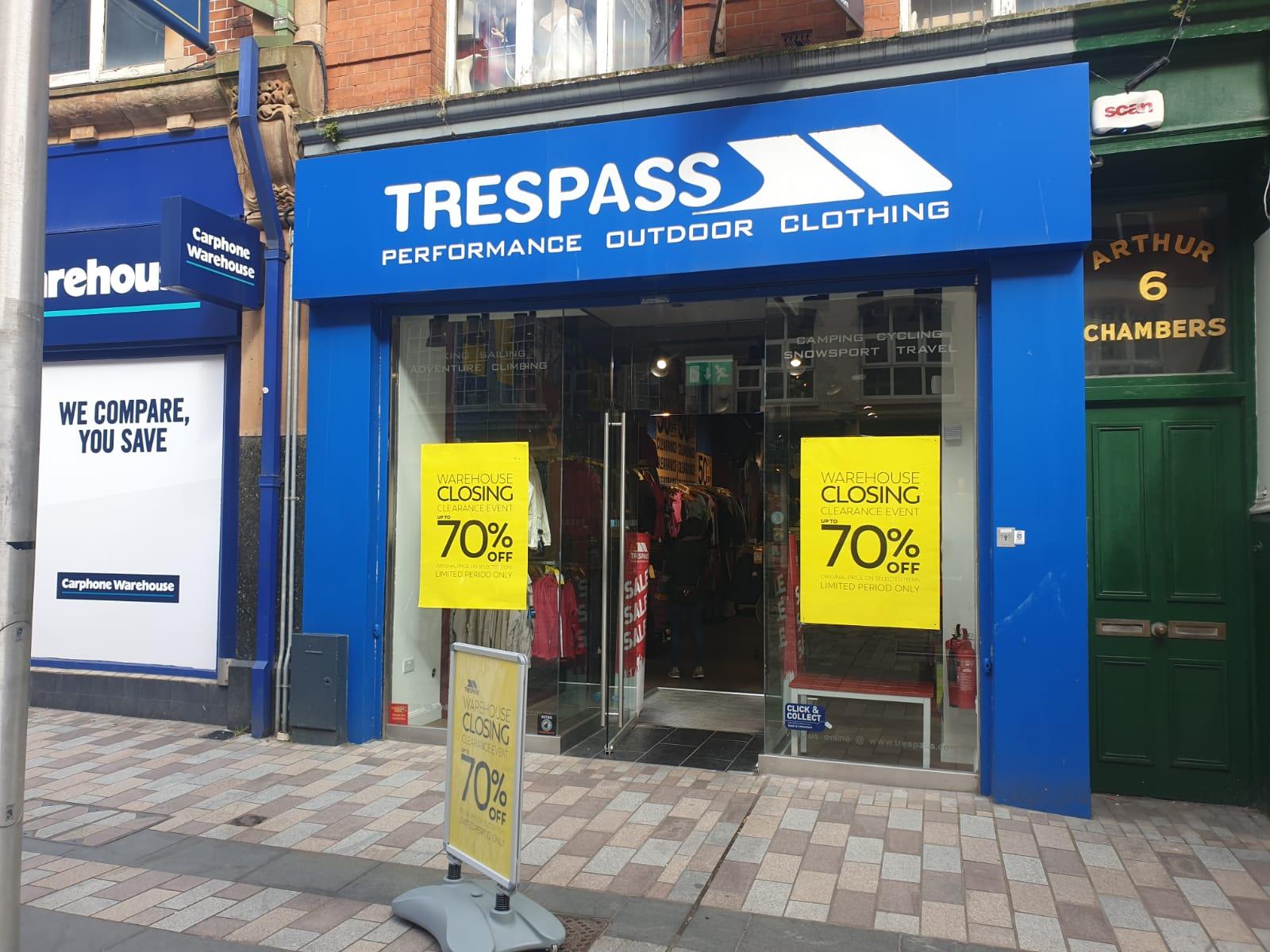 Trespass - Belfast, County Antrim BT1 4GD - 02890 278463 | ShowMeLocal.com
