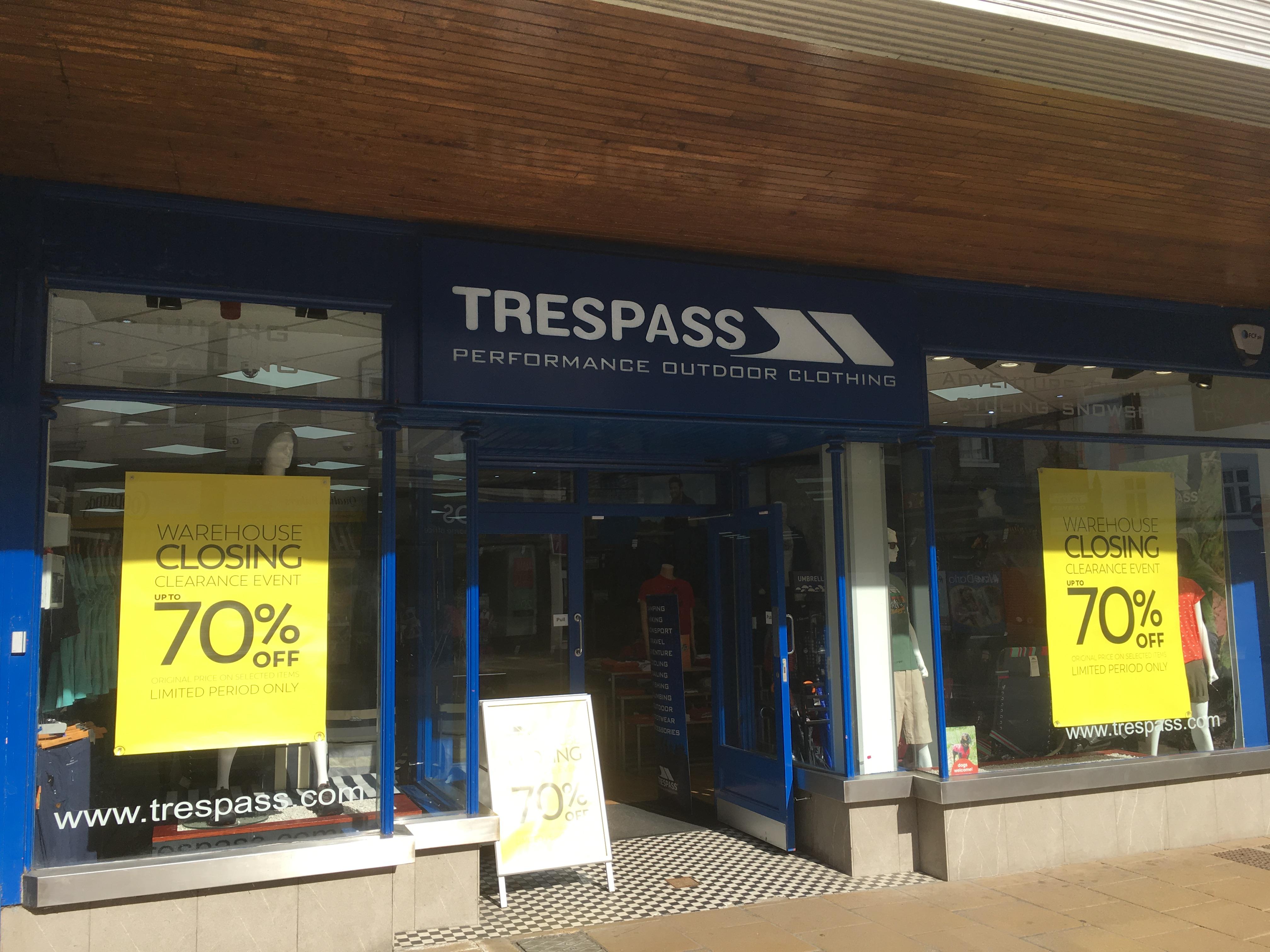 Trespass Darlington 01325 382145