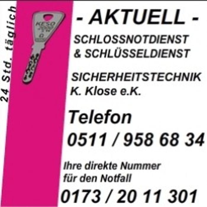 Schlossnotdienst Sicherheitstechnik K. Klose