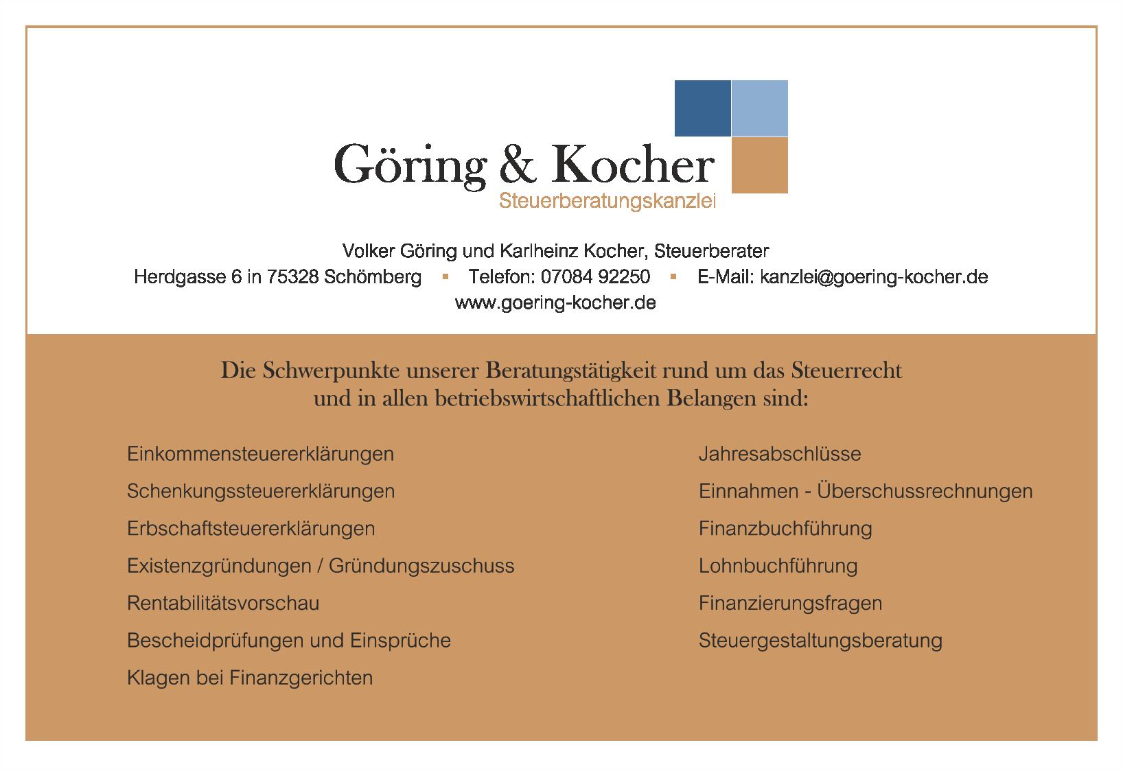 Göring & Kocher Steuerberaterkanzlei