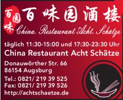 China Restaurant Acht Schätze