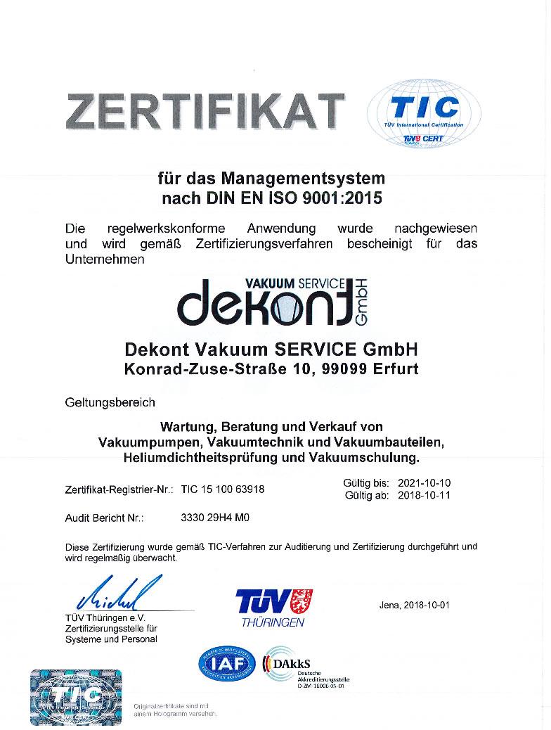 Dekont Vakuum SERVICE GmbH