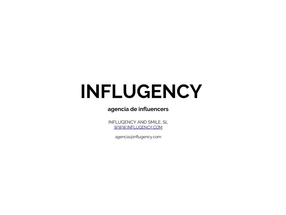 Influgency agencia de influencers