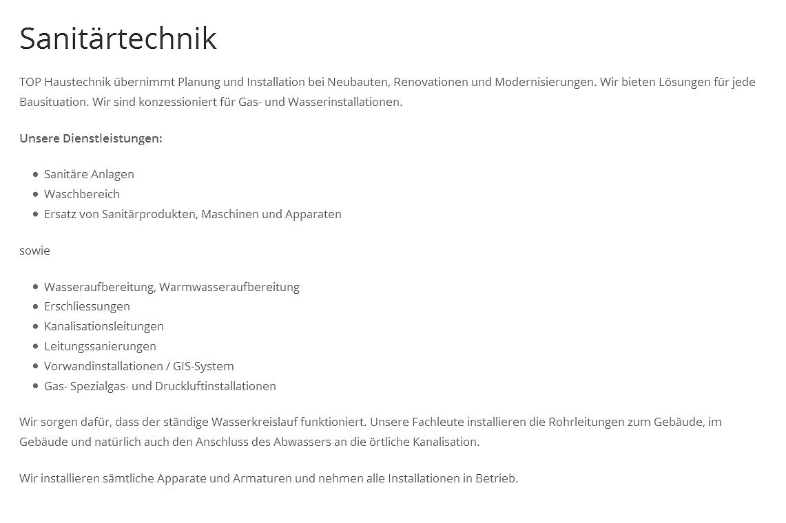 Top Haustechnik AG