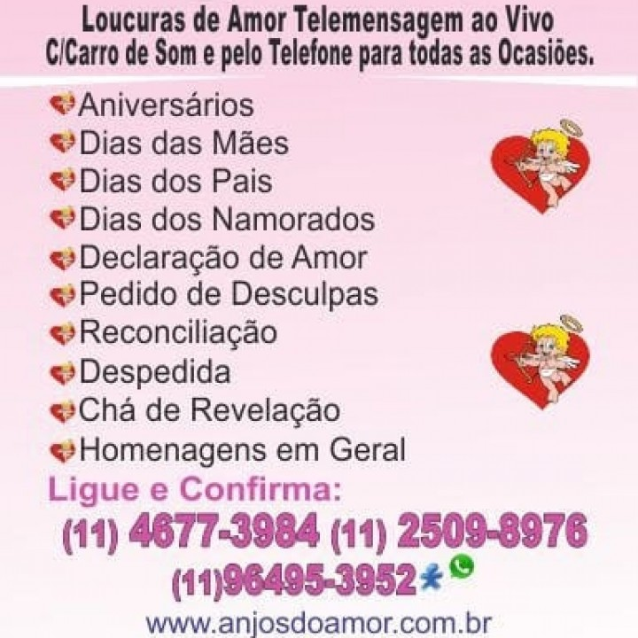 LOUCURAS DE AMOR TELEMENSAGEM