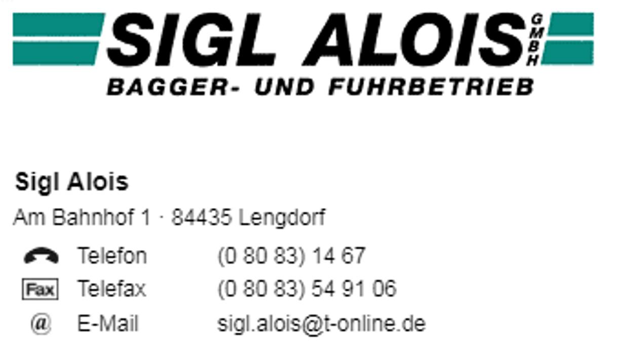 Bild zu Sigl Alois GmbH in Lengdorf