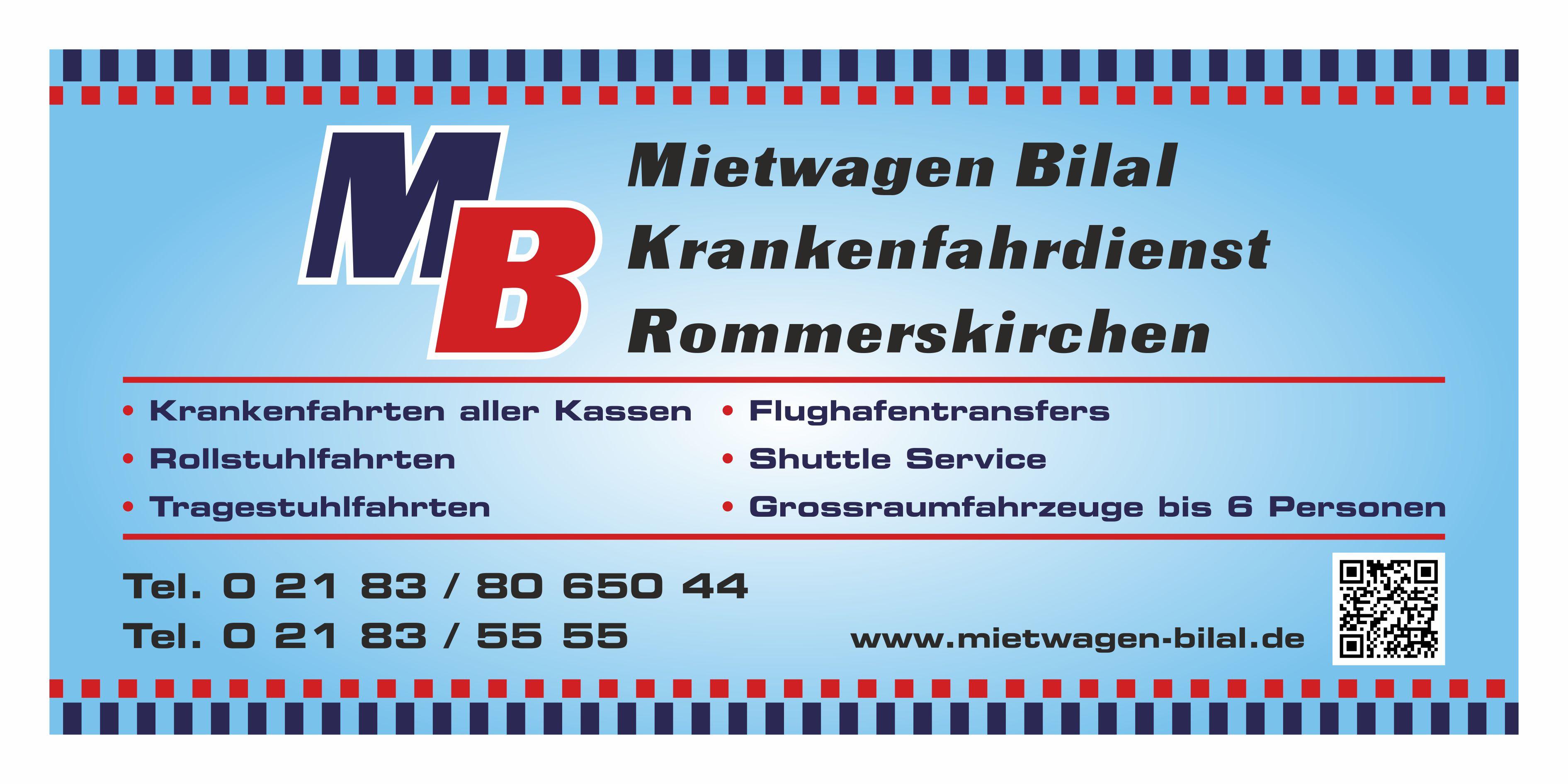 MB Mietwagen Bilal & Krankenfahrdienst Rommerskirchen