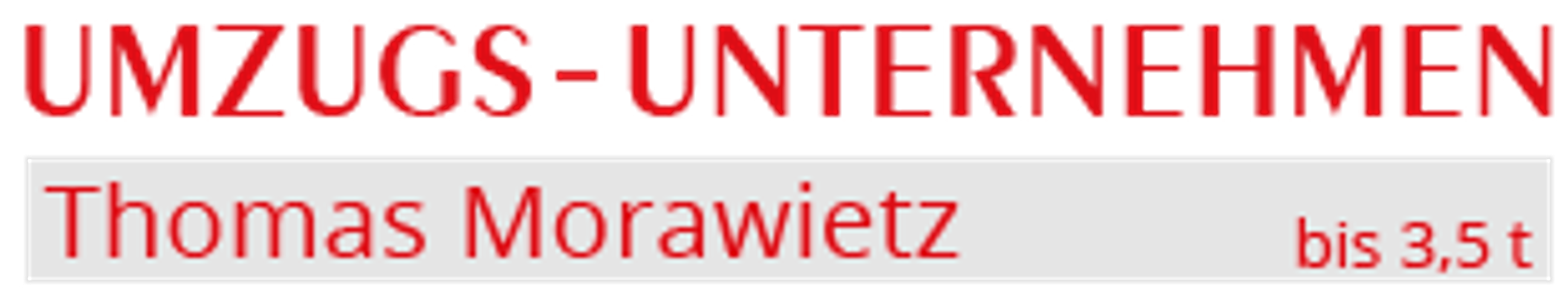 Umzugs-Unternehmen Thomas Morawietz - bis 3,5 t