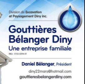 Gouttières Bélanger Diny - division Excavation et Paysagement - Québec