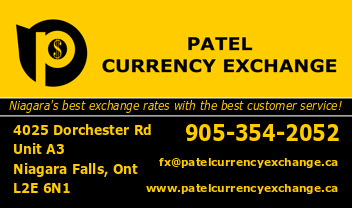 Patel Currency Exchange - Niagara Falls, ON L2E 6N1 - (905)354-2052 | ShowMeLocal.com