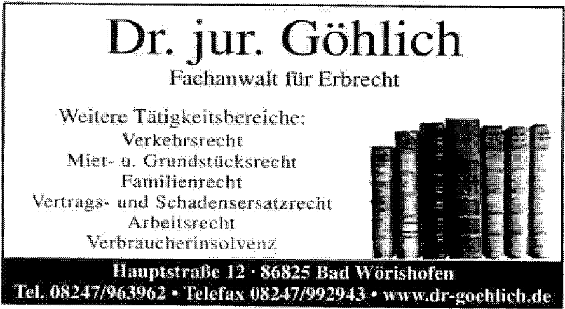 Dr. jur. Göhlich Rechtsanwaltskanzlei