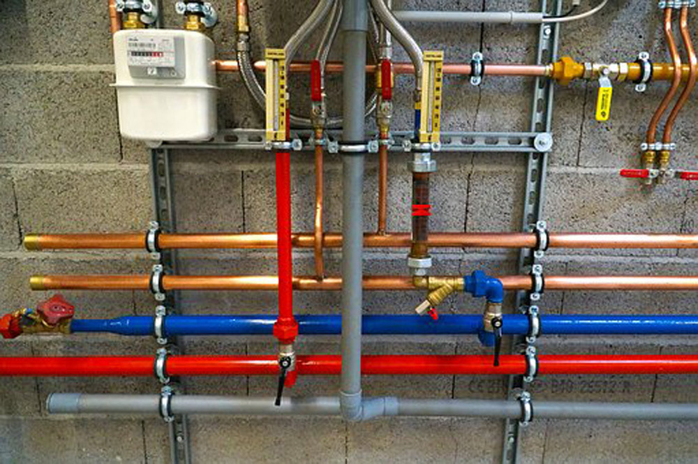 Color coded gas pipes which can be done for any home so that you know which pipes go to your gas hot water system or gas heater that needs repair, by your local plumber Adelaide.