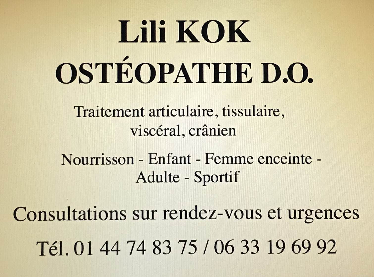 Lili Kok - Ostéopathe D.O.