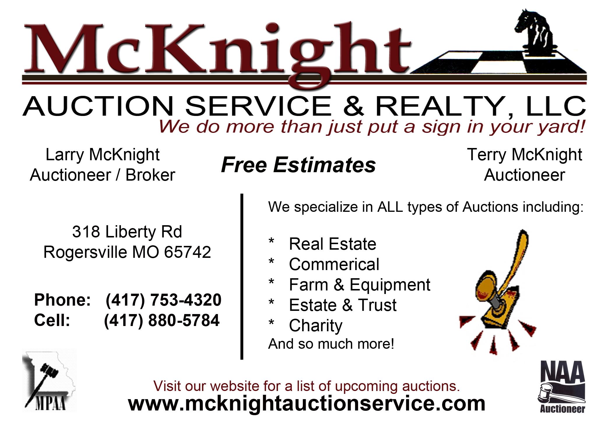 McKnight Auction Service & Realty, LLC