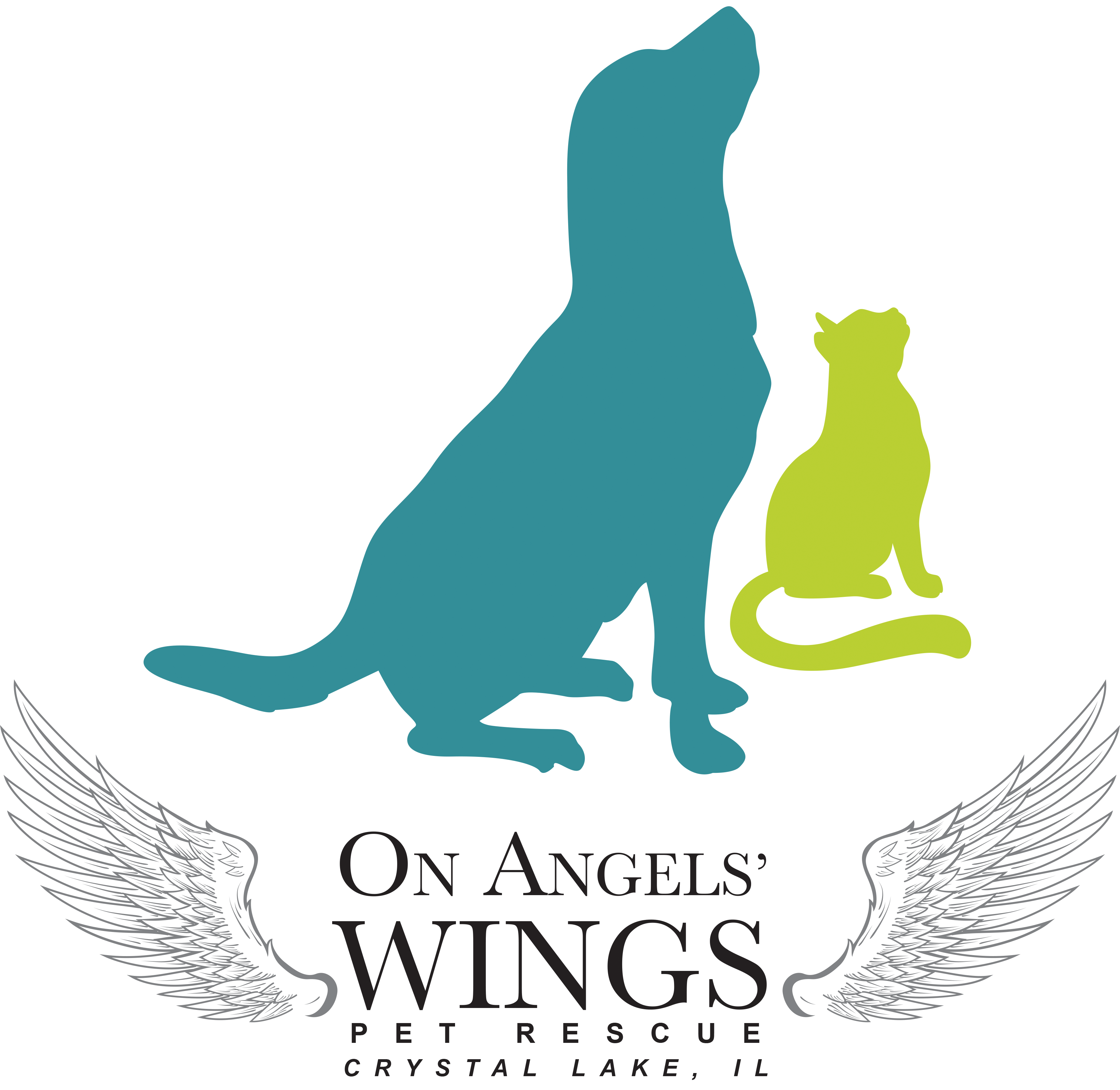 On Angels' Wings - Pet Rescue & Resale Store Logo
