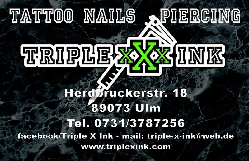 Triple X Ink - Tattoo- und Piercingstudio Ulm