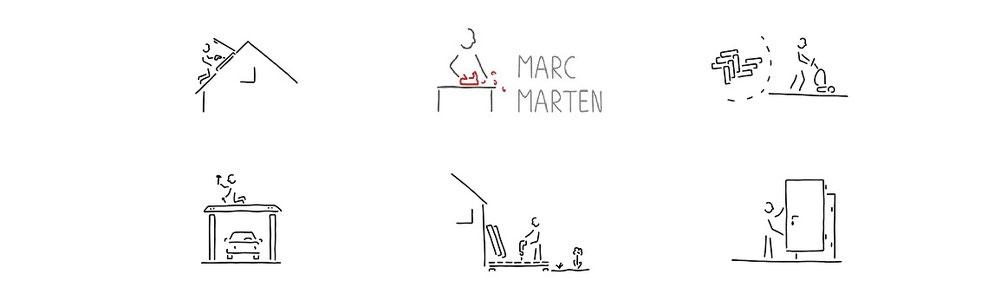 Marc Marten, Montagen und Innenausbau
