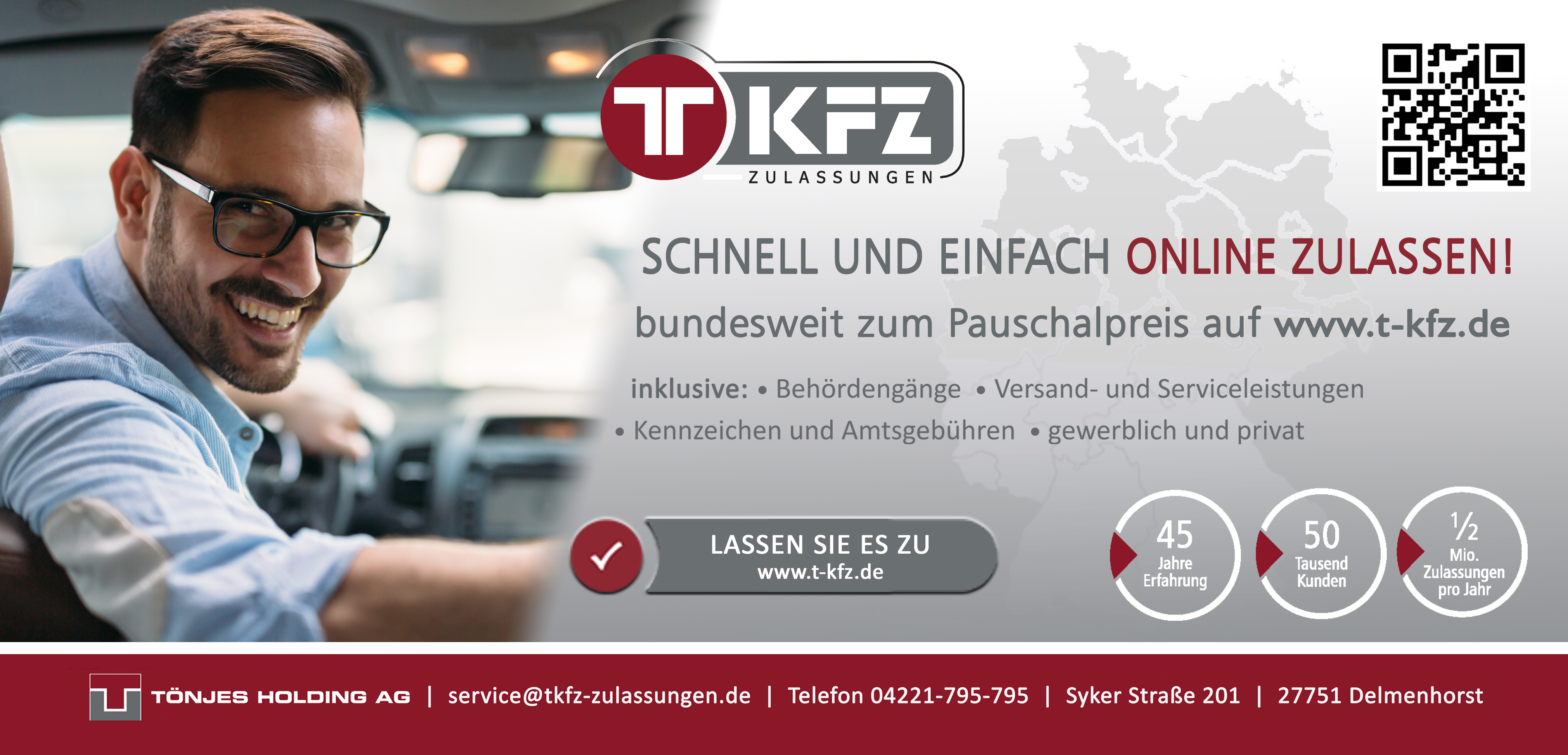 Autoschilder & Zulassungen Tönjes Baden-Baden