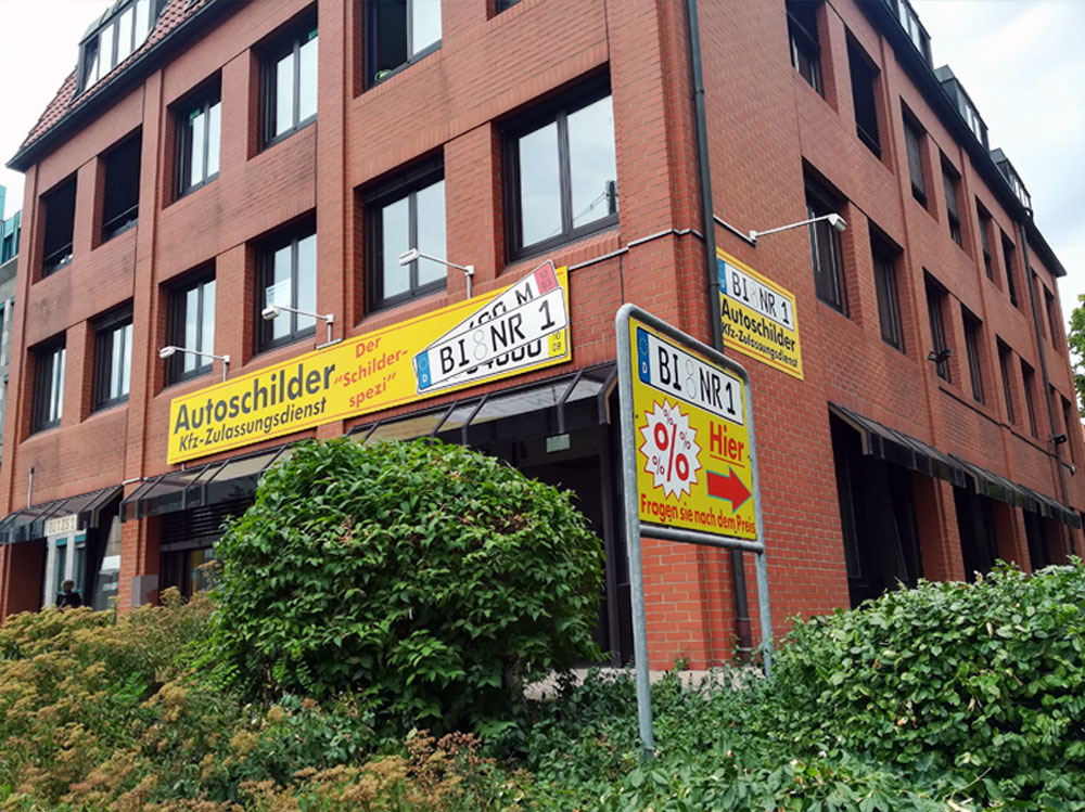 Schilder- und Zulassungsdienst Steininger Bielefeld