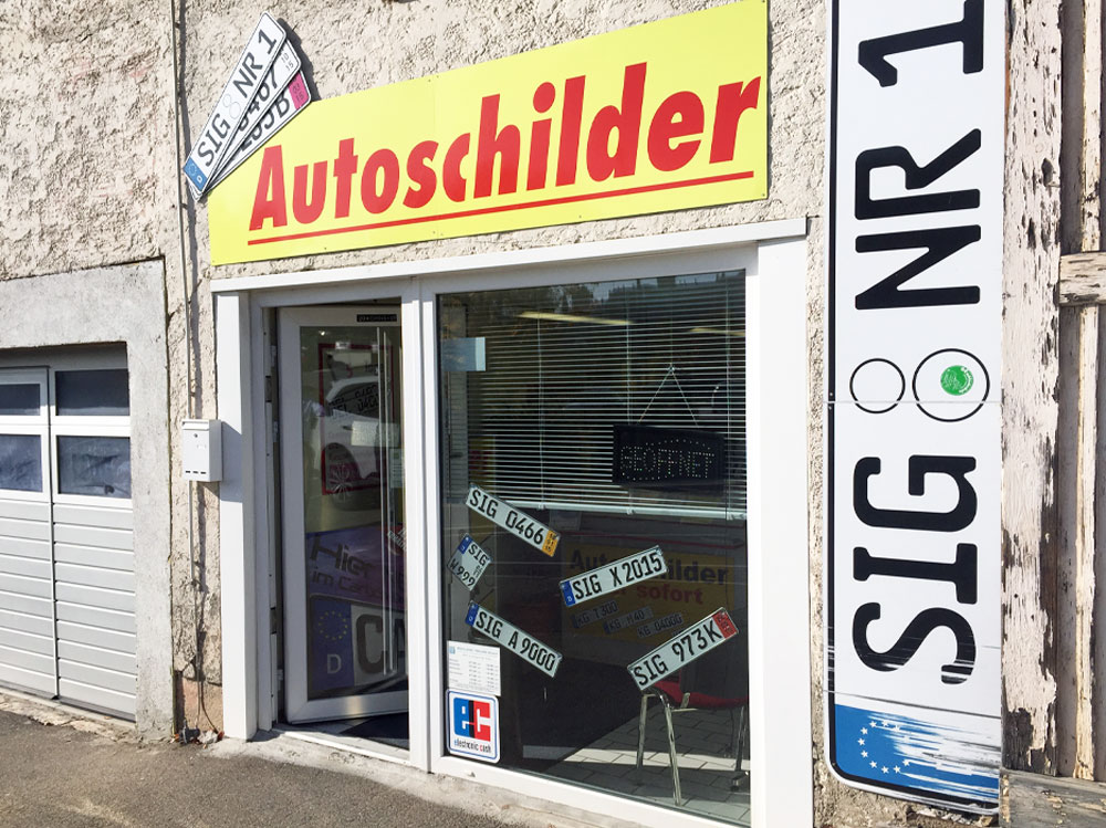 Autoschilder Tönjes Sigmaringen