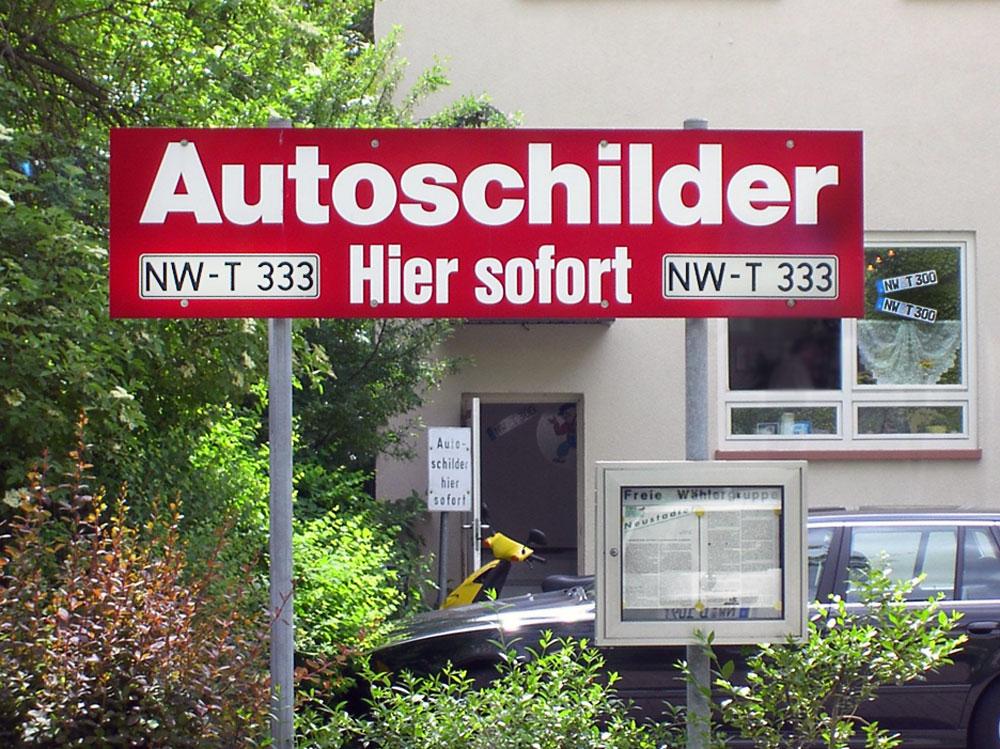 Autoschilder Tönjes Neustadt-Weinstraße