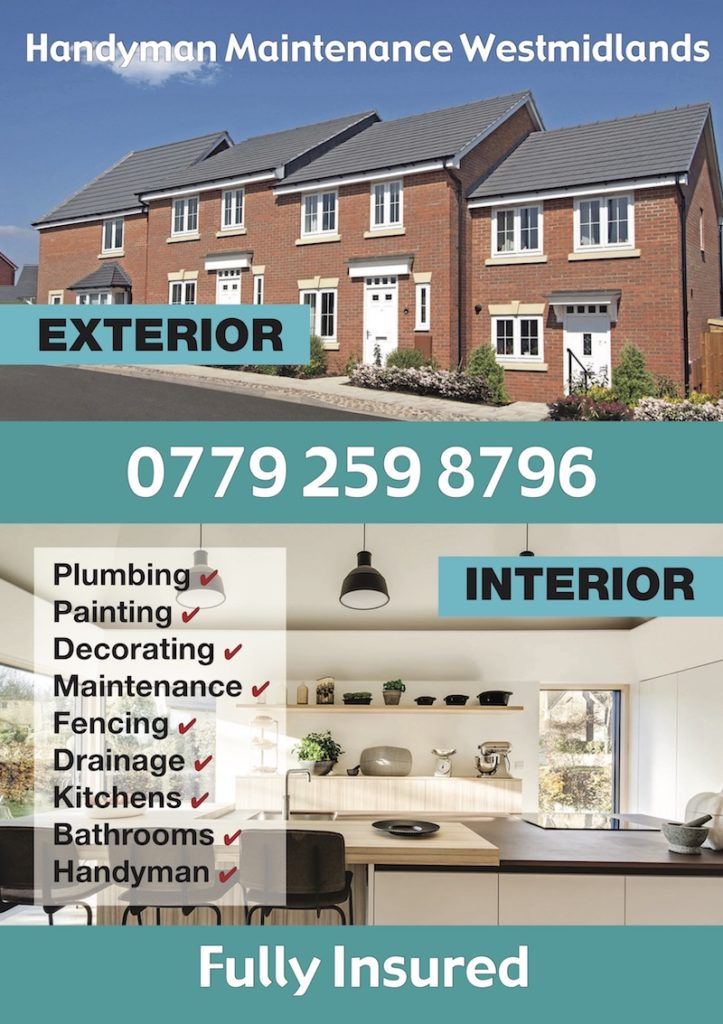 Handyman & Maintenance West Midlands - Birmingham, West Midlands B32 2DU - 07792 598796 | ShowMeLocal.com