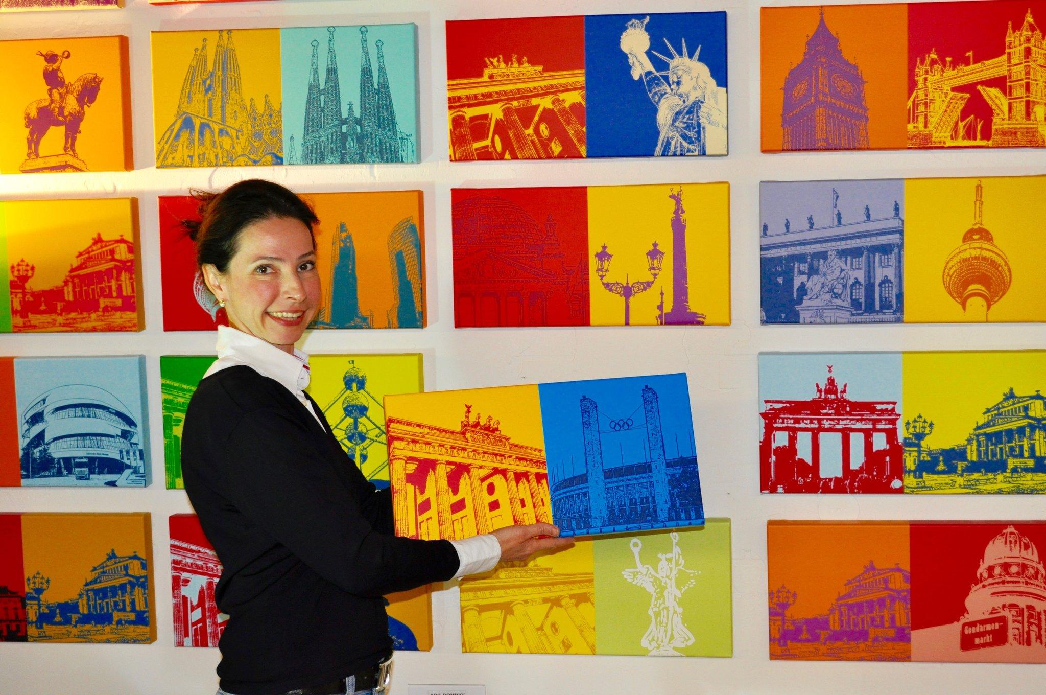 ART-DOMINO CITIES IN POP ART BY SABINE WELZ