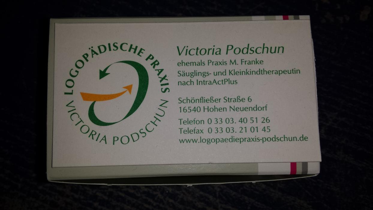 Bild zu Logopädische Praxis Victoria Podschun in Hohen Neuendorf