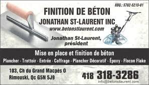 Finition et Réparation de Béton Jonathan St-Laurent