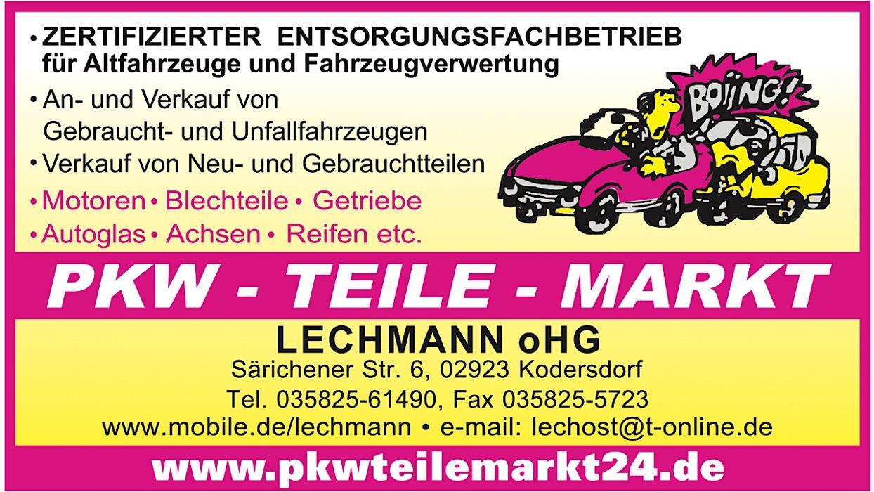 Bild zu Lechmann oHG Pkwteilemarkt24 in Kodersdorf