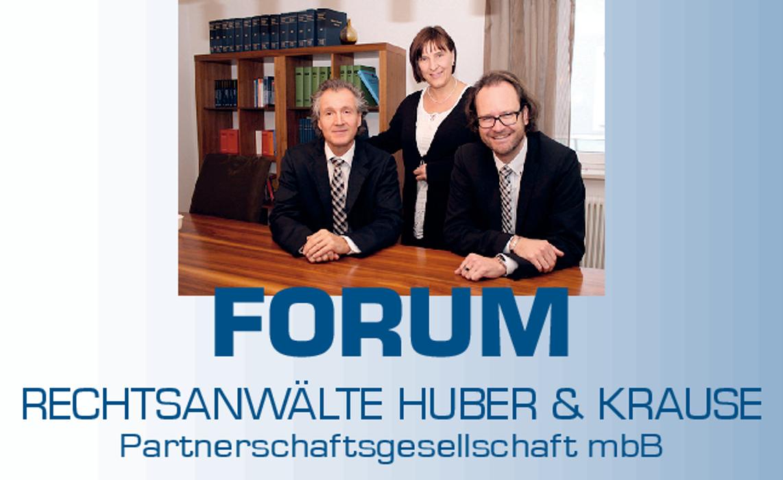 Bild zu FORUM Rechtsanwälte Huber & Krause Partnerschaftsgesellschaft mbB, Bad Wörishofen in Bad Wörishofen