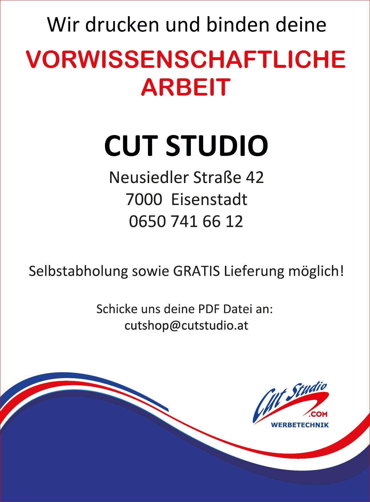 Cut Studio Werbetechnik 7000 Eisenstadt