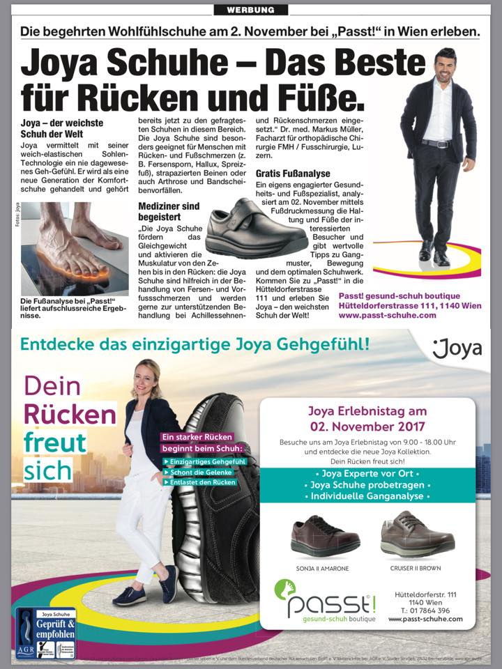 Passt! Gesund-Schuh Boutique Graz