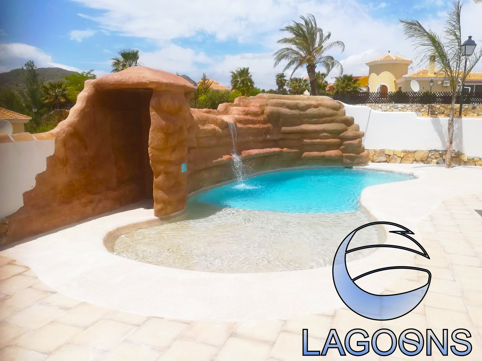 LAGOONS pool and landscaping
