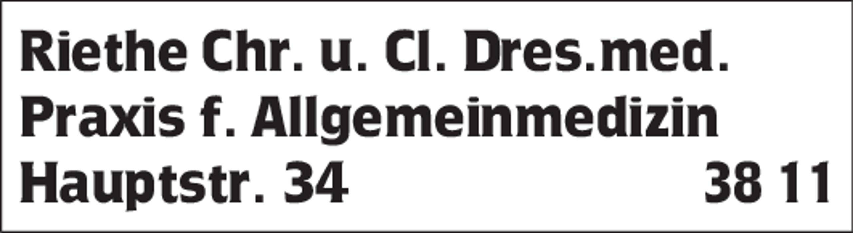 Logo von Praxis Dres. Riethe Dr. med. Christian Riethe, Dr. med. Claudia Riethe