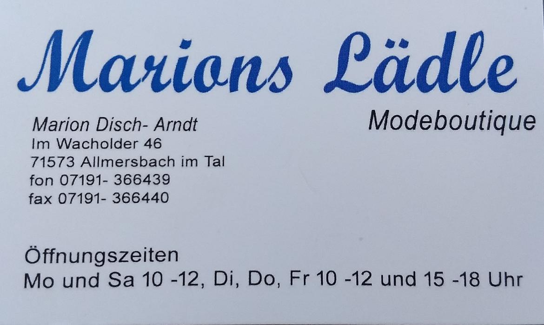 Bild zu Marions Lädle Modeboutique in Allmersbach im Tal
