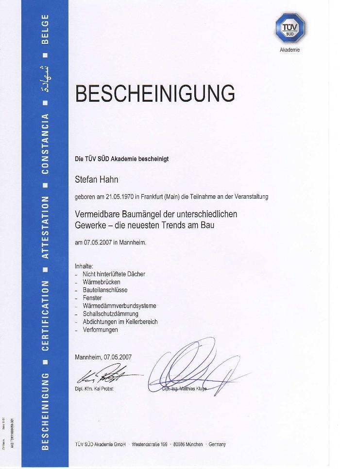 Bild zu Baugutachter Büro Stefan Hahn in Heusenstamm