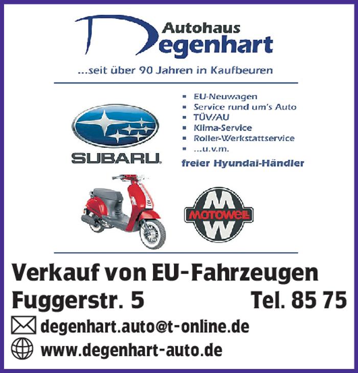 Logo von G. Degenhart e.K. Subaru Servicepartner