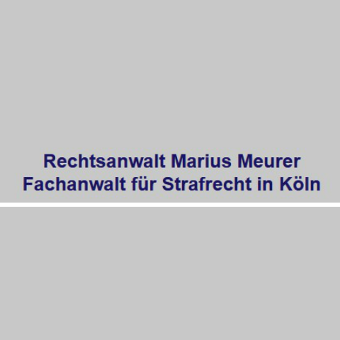 Bild zu Rechtsanwalt Marius Meurer - Fachanwalt für Strafrecht in Köln
