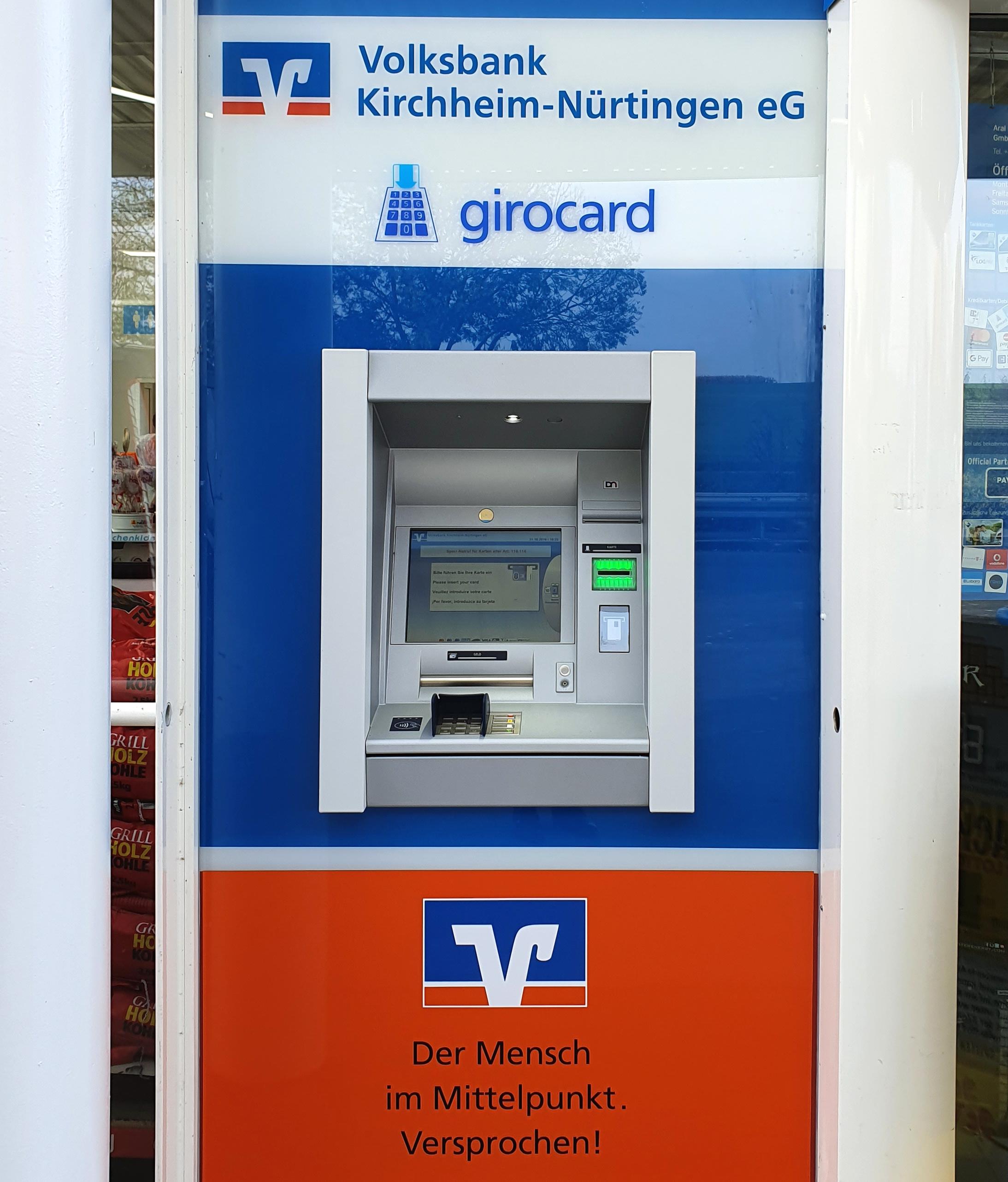 Volksbank Kirchheim-Nürtingen eG, Filiale Nürtingen-Enhzenhardt - Aral (SB-Stelle)